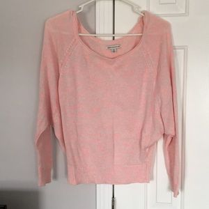 American Eagle Pink Cropped Long Sleeved